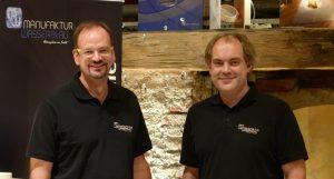 Inhaber der Manufaktur Wasserblau - Robert Trakis und Markus Hochberger